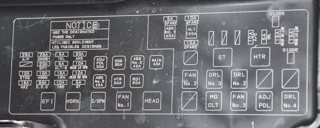 Camry Fuse Box Diagram Further 1985 Toyota Pickup Fuse Box Diagram
